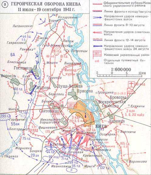 а) Героическая оборона Киева